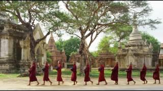 Смотреть онлайн Пагода, буддизм, Мьянма: кадры небольшой страны Азии