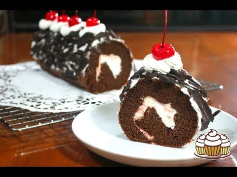 Resep Black Forest Roll Cake