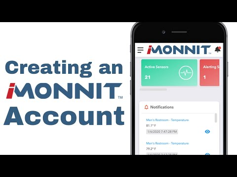 creating an account on iMonnit video