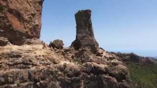 Le Roque Nublo vu du ciel