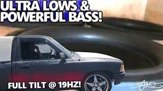 "Ultra LOWS & Powerful BASS! Hard Hitting Toyota Truck 3 18"" Subwoofers Full Tilt 19HZ"