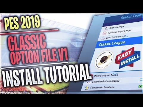 TTB] PES 2019 - PES Universe Classic Option File V1