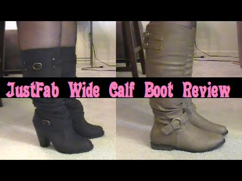 A Review of JustFab's Wide Calf Boots – Fall 2013