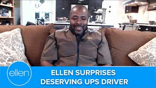 Ellen Delivers Incredible Gift to UPS Driver!