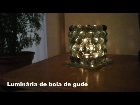 Luminária de Bola de Gude