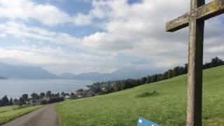 スイス発 散歩道から見たルツェルン湖【スイス情報.com】