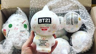 [UNBOXING] BT21 Collectible Figures Vol. 1 | Kate Rowland Wooden Brooch Paint Palette | V