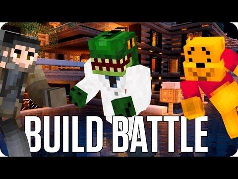 ¡HOMBRE LAGARTO! BUILD BATTLE   Minecraft con Luh