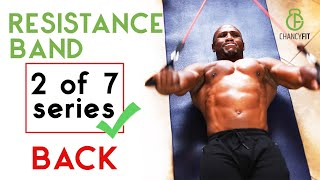 RESISTANCE BAND BACK WORKOUT AT HOME | FITBEAST