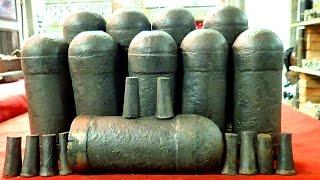 Ten American Civil War Confederate Artillery Shells   Aquachigger