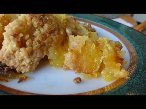 Video Recipes Using Cake Mixes #14:  Easy Fresh Peach Cobbler