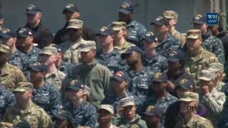 Vice President Mike Pence Makes Remarks to US Service Members Abroad the USS Ronald Reagan in Japan