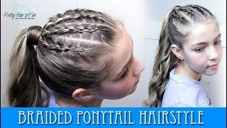 BRAIDED PONYTAIL HAIRSTYLE!