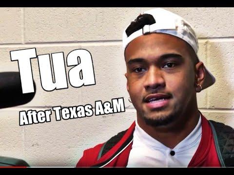 Tua Tagovailoa postgame interview against Texas A&M