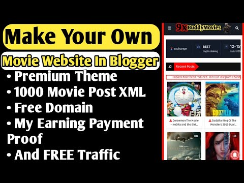 Make Your Own Movie Website in Blogger With Free Traffic, Domain, Theme, 1000 Movie Post XML   2020
