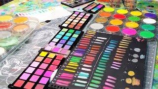 Comparing Pan Pastel VS Jane Davenport Palette Pastels VS Cheap Eyeshadow