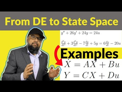 From Differential Equation to State Space Equations [2 Examples]