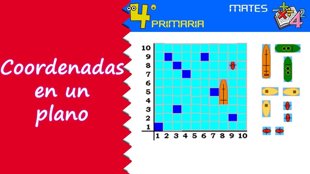 Matemáticas. 4º Primaria. Tema 12. Coordenadas en un plano