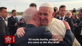 Papa reencontra amigo de velha data no Chile