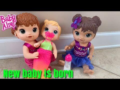 Baby Alive Mermaid is Born Lealas New baby Sister