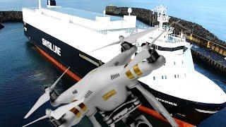DJI Phantom 3 professional 4K.Fly a Drone Ship Smyril Line Cargo.