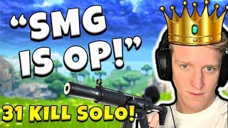 Insane 31 Solo Kill (SMG Is OP)! Tfue - Fortnite Battle Royale Gameplay