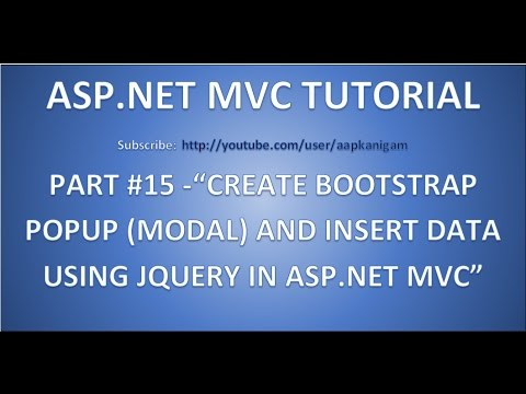 How to create a bootstrap popup (modal) and insert data using JQuery in ASP.NET MVC- Part 15