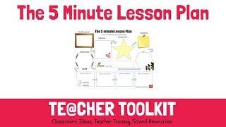 The 5-Minute Lesson Plan Webinar By @TeacherToolkit