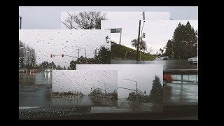 driving in the rain while listening to lofi