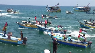 Palestinians Demand Human Rights & Medical Care in Fight to Break Israeli Naval Blockade of Gaza