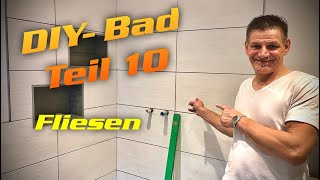 DH - Fliesen im Badezimmer / tiles in the bathroom - Trockenbau DIY