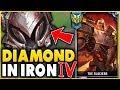 I TOOK MY DARIUS INTO IRON 4 FOR THE FIRST TIME DIAMOND DARIUS VS IRON ELO League of Legends