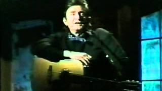 Johnny Cash sings and talks about growing up poor