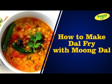 How to Make Dal Fry with Moong Dal | Bharathi's Kitchen || YummyOne