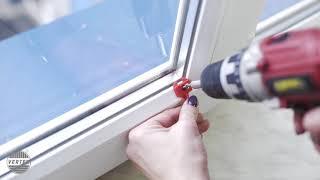 Montaż plisy okiennej z uchwytem