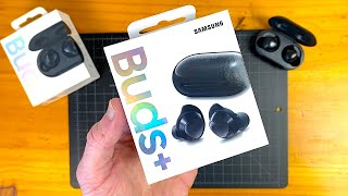 Samsung Galaxy Buds+ (Black) Unboxing & First Impressions!