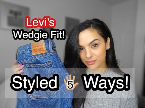 Styled 5 Ways | Levis Wedgie Fit High Waisted Jeans | elle be