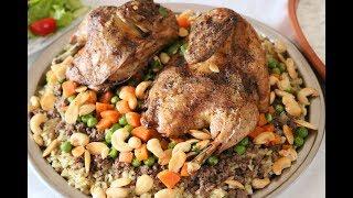 الرز الأوزي على الطريقة الفلسطينية على مائدة افطاري في رمضان