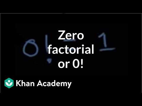 Zero Factorial Or 0 Video Permutations Khan Academy