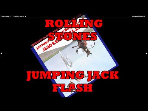 Rolling Stones ``jumpin jack flash´´ With Lyrics