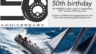 Celebrating Harken's 50th Birthday - 10% off all Harken orders in September 2017