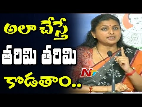 MLA Roja Fires on Chandrababu Naidu & Pawan Kalyan | Press Meet over Chandranna Villagae Mall