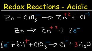 How To Balance Redox Equations In Acidic Solution