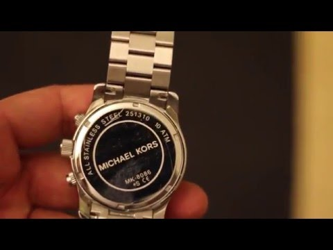 How To Change Michael Kors MK 8086 Watch Battery Mp3