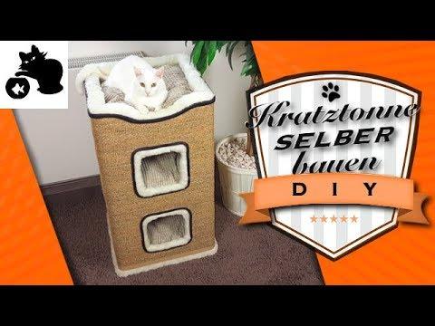 🔥Kratztonne selber bauen - Alternative zum Kratzbaum - DIY Kratzsäule - Katzenbaum selber bauen