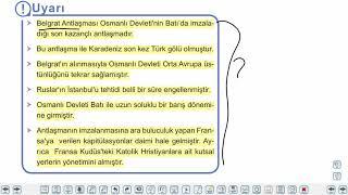 Eğitim Vadisi TYT Tarih 11.Föy Değişen Dünya Dengeleri Karşısında Osmanlı Siyaseti 1 Konu Anlatım Videoları
