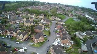 Drone flight. Beginer. первые полёты дрона. Hubsan X4 H502S Telford