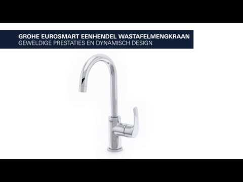 grohe eurosmart 1 gats wastafelkraan l size met trekwaste. Black Bedroom Furniture Sets. Home Design Ideas