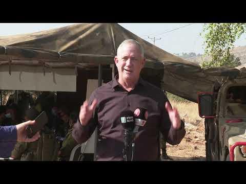 השר גנץ: אני שומע מלבנון קולות של שלום • צפו