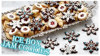 Professional Baker Makes GORGEOUS Ice Box Jam Cookies!